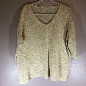 J Jill XL Cotton Cream Sweater